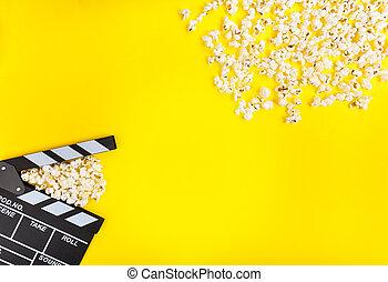 bio, bakgrund., film, watching.