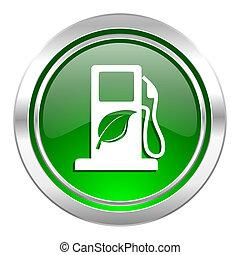 bio, biofuel, guzik, ikona, zielony, opał, znak