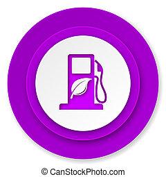 bio, biofuel, knoop, pictogram, viooltje, brandstof, meldingsbord