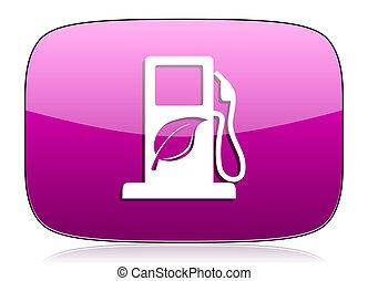 bio, biofuel, znak, fiołek, opał, ikona