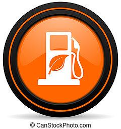 bio, biofuel, znak, pomarańcza, opał, ikona