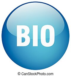 bio blue round gel isolated push button