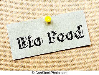 bio, cibo, messaggio