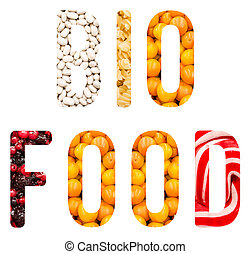 bio, cibo, parola, concetto