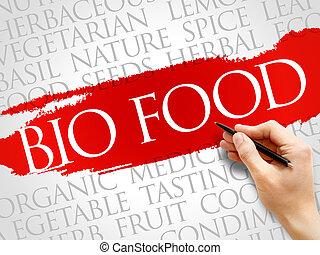 bio, cibo, parola, nuvola
