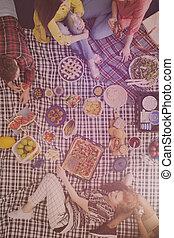 bio, cibo, picnic