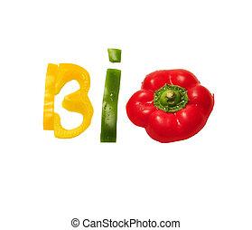 bio, cibo, testo