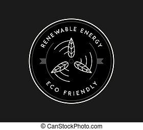 bio, conceito, energia, verde, pretas, branca