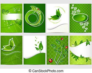 Bio design - Vector eco design background set