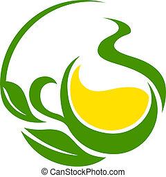 bio, eco, 葉, くるくる回る, デザイン, 緑, ∥あるいは∥