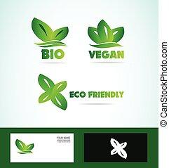 Bio eco friendly vegan logo