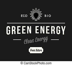 bio, energia, branca, pretas, verde