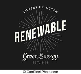 bio, energia, verde, pretas, branca, renovável