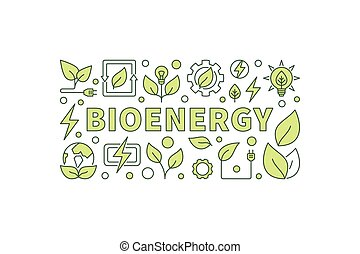 Bio energy vector illustration