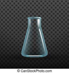 bio, erlenmeyer フラスコ, 化学物質, 現実的, ベクトル