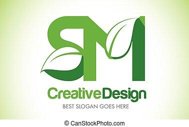 bio, feuille, lettre, eco, illustration, conception, sm,...