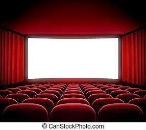 bio, film skärma