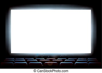 bio, film teater, avskärma