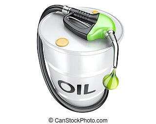 bio, fogalom, gáz, nozzle., pumpa, olaj, fűtőanyag, puskacső