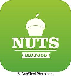Bio food icon green vector