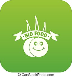 Bio food icon green vector
