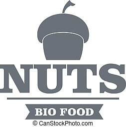 Bio food logo, vintage style