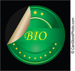Bio food or product label - green VECTOR