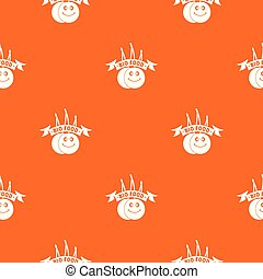 Bio food pattern vector orange