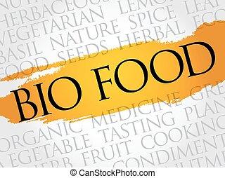 BIO FOOD word cloud collage