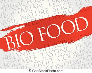BIO FOOD word cloud collage