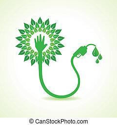 Bio fuel concept with nozzle