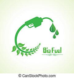 Bio fuel concept with nozzle stock vector