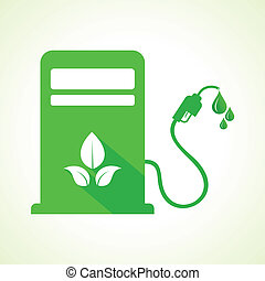Bio fuel concept with petrol pump