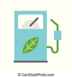 Bio fuel dispenser, Clean energy concept Flat icon