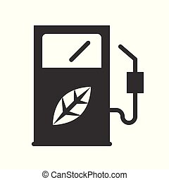 Bio fuel dispenser, Clean energy concept icon