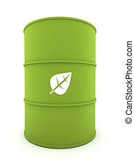 Bio-Fuel Drum - 3D representation of a Bio-Fuel Drum with...