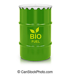 bio fuel gallon - Green barrel of bio fuel, environment...