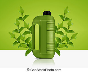 bio fuel gallon - Green Gallon of bio fuel, environment...