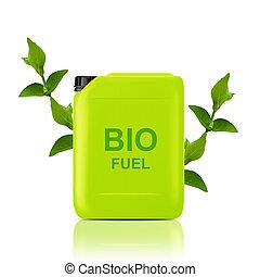 bio fuel gallon - Green Gallon of bio fuel, environment...