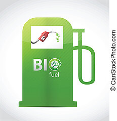 bio fuel gas pump illustration design