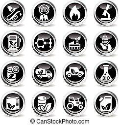 bio fuel icon set