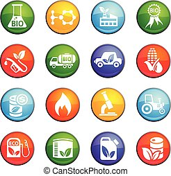 bio fuel icon set