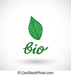 Bio fuel label icon. Vector illustration.