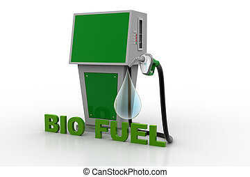 Bio fuel station with drop