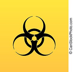 bio, gevaarsteken, symbool, gevaar, waarschuwend
