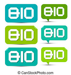 BIO Green Paper Labels - Tags - Stickers Set