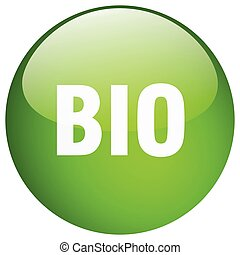 bio green round gel isolated push button