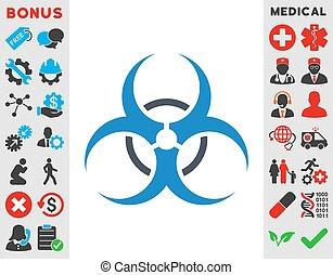 Bio Hazard Icon - Bio Hazard vector icon. Style is bicolor...