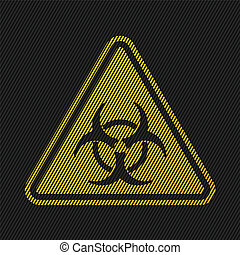Bio hazard sign on striped background