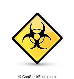 Bio hazard symbol. Vector illustration. Vector icon.